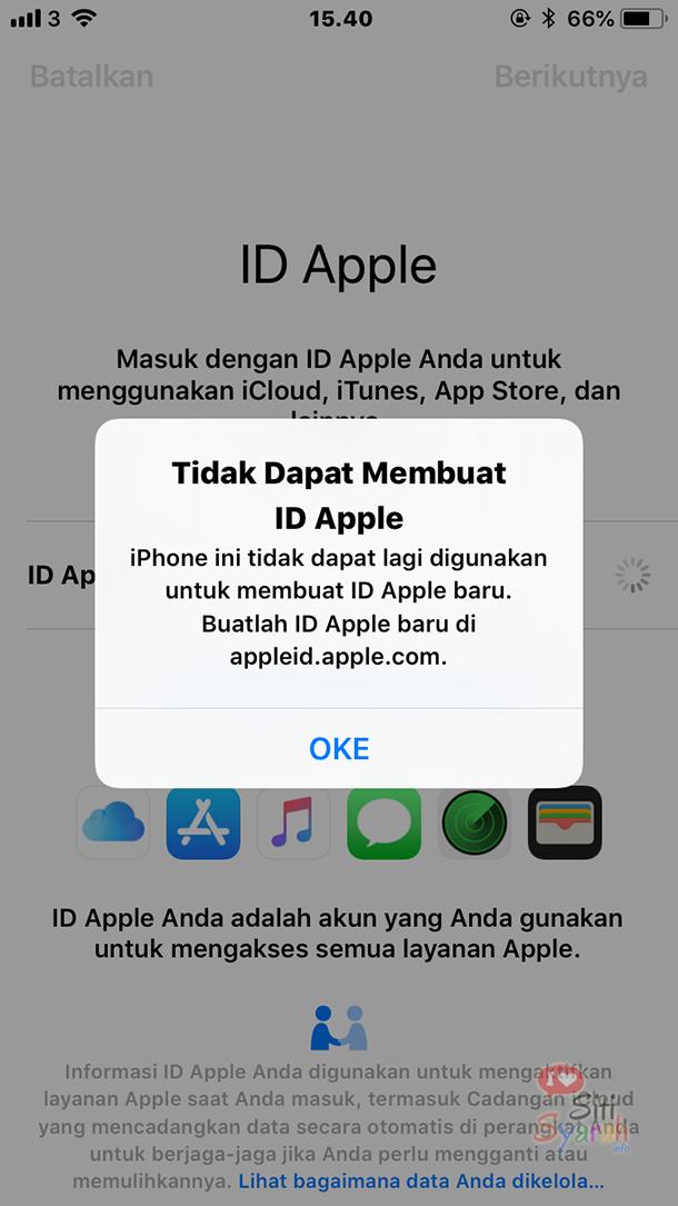 solusi tidak bisa membuat id apple di iPhone